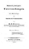 Historisch-pathologische Untersuchungen : Als Beiträge zur Geschichte der Volkskrankheiten (Vol.1)