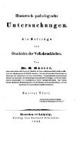 Historisch-pathologische Untersuchungen : Als Beiträge zur Geschichte der Volkskrankheiten (Vol.2)
