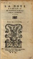 La dote (Commedie in prosa (tit.fict.) ; P. 1-3.5.6.)