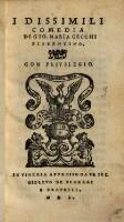 I dissimili (Commedie in prosa (tit.fict.) ; P. 1-3.5.6.)