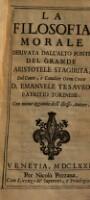 La filosofia morale derivata dall'alto fonte del grande Aristotele Stagirita ; Con nuove aggiunte