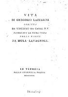 Vita di Gregorio Lazzarini