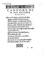 Canzone (per occasion della vittoria contra il Turco 1571.)