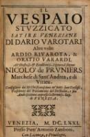 Il Vespaio Stuzzicato Satire Veneziane