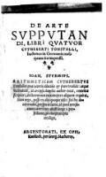 De Arte Supputandi, Libri Quatuor ; hactenus in Germania nusquam ita impressi