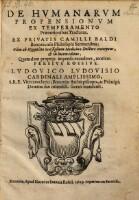 De Humanarum Propensionum Ex Temperamento Praenotionibus Tractatus, Ex ... Sermonibus, Olim ab Hippolito Scaffigliono ... excerptus & in lucem editus
