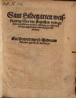 Weissagung vber die Papisten vnd genanten geistlichen, welcher erfüllung zu vnsern zeyten hat angefangen ... Ein Vorred durch Anrede am Osiander.