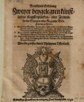 Bericht und Erklärung zweyer beygelegten künstlichen Kupfferstücken, oder Zeitweiser der Sonnen über die gantze Welt (etc.)