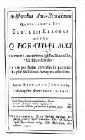Aristarchus Anti-Bentleianus.