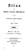 Atlas zur Kunde fremder Welttheile (1836, 1. Band)