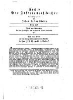 Archiv der Insectengeschichte (Erstes Heft 1781.)