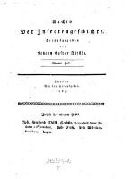 Archiv der Insectengeschichte (Viertes Heft 1783.)