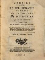 Memoire Sur Le Sel Sédatif Naturel De La Toscane Et Du Borax Quon