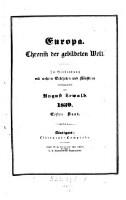 Europa, Chronik der gebildeten Welt ; In Verbindung mit mehreren Gelehrten und Künstlern herausgegeben von August Lewald (1839 1. Band)