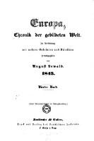 Europa, Chronik der gebildeten Welt ; In Verbindung mit mehreren Gelehrten und Künstlern herausgegeben von August Lewald (1843 4. Band)