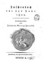Taschenbuch für das Jahr ... (Jg. 1802)