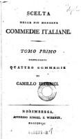 Quattro commedie di Camillo Federici