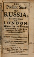 The present State of Russia in a letter to a friend at London