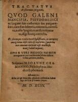 Tractatus de pharmaco purgantis (etc.)