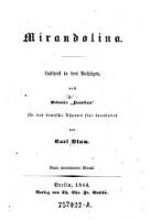 """Mirandolina. Lustspiel in 3 Aufzügen, nach Goldoni's """"Locandiera"""""""