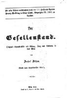 Der Gesellenstand. Original-Charakterbild mit Gesang, Tanz und Tableaux in 3 Akten von Josef Böhm. Musik vom Kapellmeister Stolz