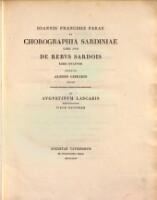 De chorographia Sardiniae : libri duo de rebus Sardois libri quatuor edente Aloisio Cibrario