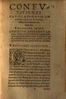 Confutatio cavillationum, quibus sacrosantu[m] eucharistiae sacramentum, ab impiis Capharnaitis impeti solet ... Ed. II