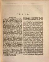 Dritte Section O - Z ; Peter (Graf von Gravina) - Peutelkofel