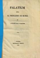 Palatium ossia il principio di Roma.