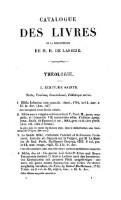Catalogue des livres rares manuscrits et imprimes composant la bibliotheque de M. H. de Lassize.