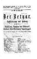 """<<Der>> Betyar : Volksdrama mit Gesang in fünf Akten ; nach dem Roman des Baron von Eötvös """"Der Dorfnotär"""" von Szigeti ; aus dem Ungarischen übersetzt und für die deutschen Bühnen bearbeitet"""