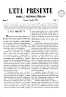 <<L'>> Éta presente. : giornale politico-letterario (Anno I (1858), Nr. 1-26)