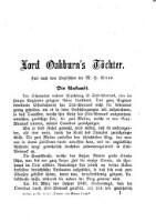 """Lord Oakburn's Tochter : Roman aus dem Englischen ; Beilage zu """"Debatte und Wiener Lloyd"""""""