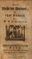 <<Das>> Recht der Vernunft : in fünf Büchern