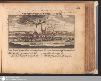 Chaalon in Champanien ; Virtutis Præmia Cultor Habet / [Eberhard Kieser]