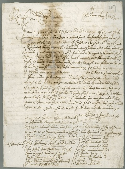 [Letter of Fr J. Egan OFM to Fr Andrew Egan OFM, Milan, 27th August 1705.]