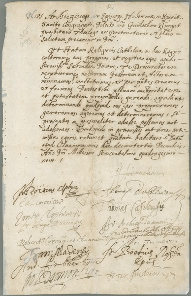 [Letter of the Catholic archbishops and bishops of Ireland to Charles Emmanuel II, duke of Savoy, 13th December 1649.]