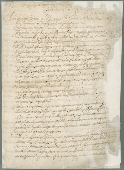 [Information provided by the Catholic bishop of Waterford and Lismore concerning the Cistercians in Ireland.]