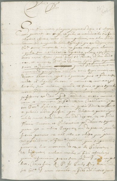 [Letter of Owen Roe O'Neill to Cardinal Pancirolo, papal secretary of state, Cavan, 18th May 1649.]