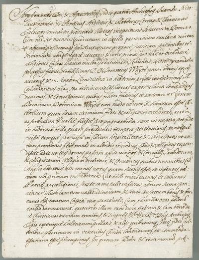 [Copy of a letter of Nicholas French, Catholic bishop of Ferns, Patrick Plunkett, Catholic bishop of Ardagh, and Robert Barry, Catholic bishop of Cork and Cloyne, Nantes, 28th April 1656.]