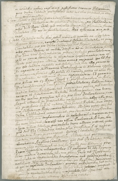 [Copy of a dialogue between Oliver Cromwell and Sir Charles Coote.]