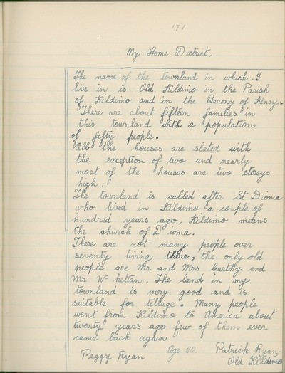 My Home District [By Peggy Ryan, collected from Patrick Ryan, Old Kildimo, Co. Limerick.]