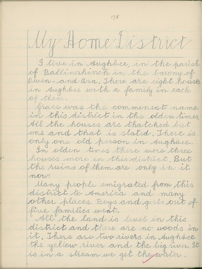 My Home District [By Michael Ryan, collected from Denis Ryan, Shalee, Nenagh, Co. Tipperary.]