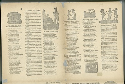 Image from object titled [Various ballads printed on an uncut sheet and illustrated with woodcuts.]