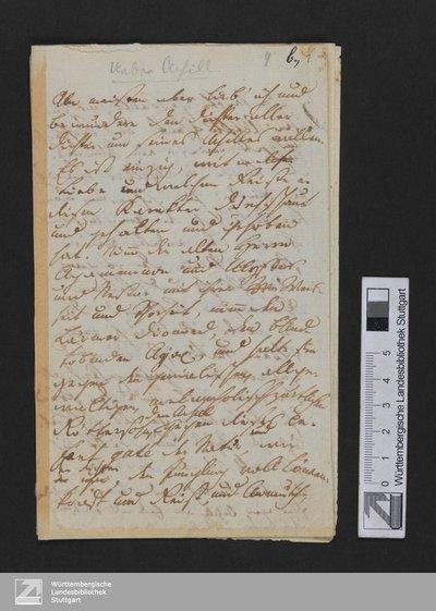 Über Achill (Am meisten aber lieb' ich ...) - Cod.poet.et.phil.fol.63,III,9b : [StA 4,224,13-225]