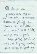 Lettera con busta <in lingua francese>