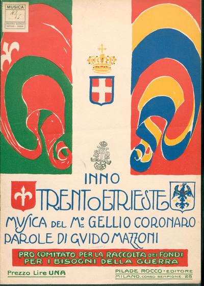 Trento e Trieste : Inno. [canto e pianoforte]. Parole di Guido Mazzoni