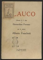 Glauco : libretto in tre atti / di Giovacchino Forzano ; per la musica di Alberto Franchetti