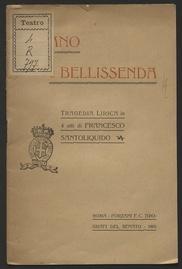Alano e Bellissenda : tragedia lirica in 4 atti / di Francesco Santoliquido