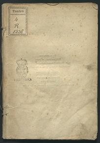Donna Caritéa regina di Spagna melo-dramma serio da rappresentarsi nel Teatro comunale di Ravenna per la solita fiera di maggio del 1830